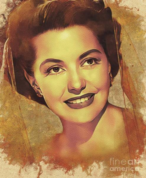 Charisse Painting - Cyd Charisse, Hollywood Legend by Mary Bassett