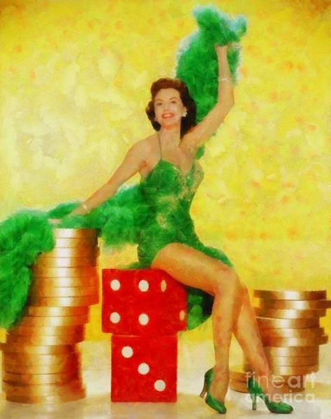 Charisse Painting - Cyd Charisse, Vintage Hollywood Legend by Sarah Kirk
