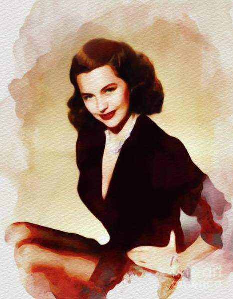 Charisse Painting - Cyd Charisse, Vintage Movie Star by John Springfield