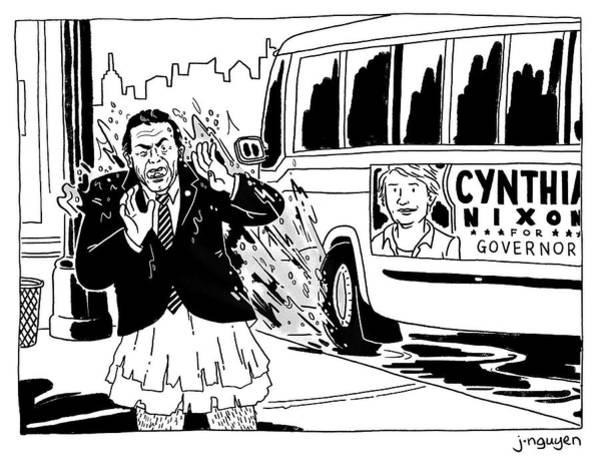 Jeremy Nguyen Drawing - Cynthia Nixon For Governor by Jeremy Nguyen