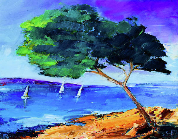 Painting - By The Sea by Elise Palmigiani