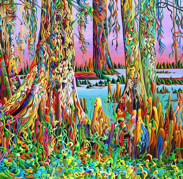 Painting - Cypress Spirit Rising by Amy Ferrari