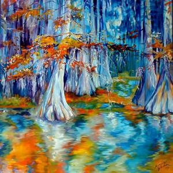 Painting - Cypress Trees Along The Bayou by Marcia Baldwin