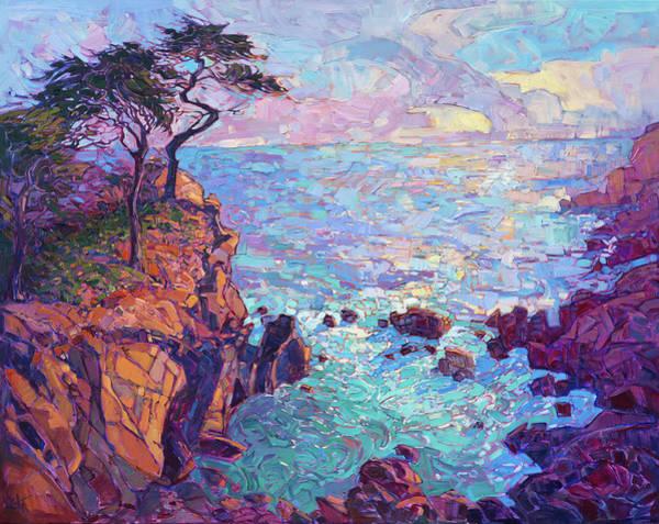 Monterey Wall Art - Painting - Cypress Vista by Erin Hanson