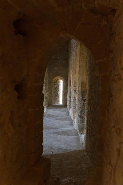 Stone Wall Art - Photograph - Cyprus Medieval Castle Corridor Atmosphere by Iordanis Pallikaras
