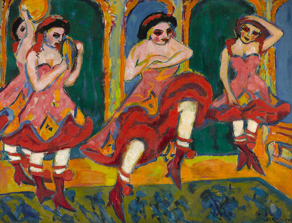 Painting - Czardas Dancers by Ernst Ludwig Kirchner