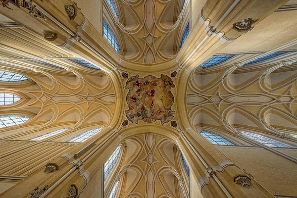 Photograph - Czech Church Ceiling Mural by Stuart Litoff