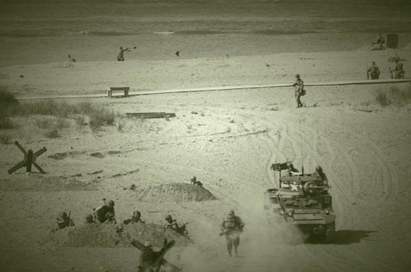 Photograph - D-day Reenactment by Stewart Helberg