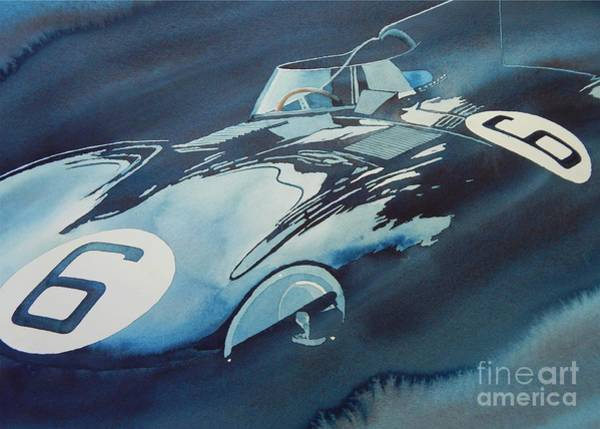 Jaguar Painting - D Type Blues by Robert Hooper