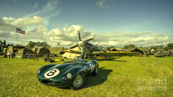 Wall Art - Photograph - D Type Jag  by Rob Hawkins