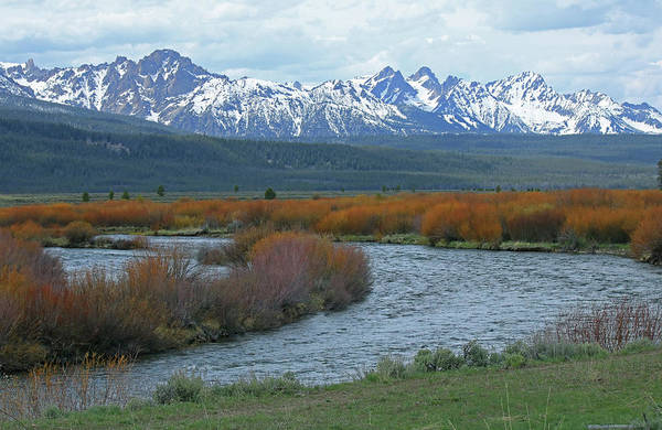Photograph - D07328 Sawtooth Range And Salmon River by Ed Cooper Photography