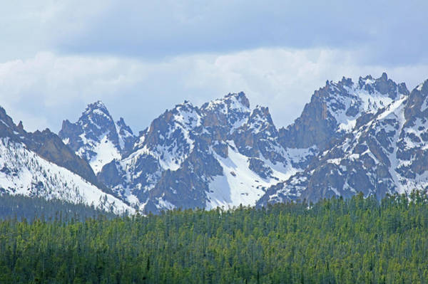 Photograph - D07329 Peaks Of The Sawtooths by Ed Cooper Photography
