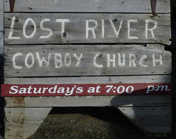 Photograph - D07597-dc Cowboy Church Sign by Ed Cooper Photography