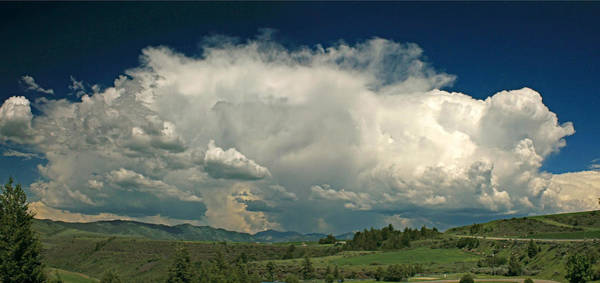 Photograph - D07930 Panorama Of Clouds Over Idaho by Ed Cooper Photography