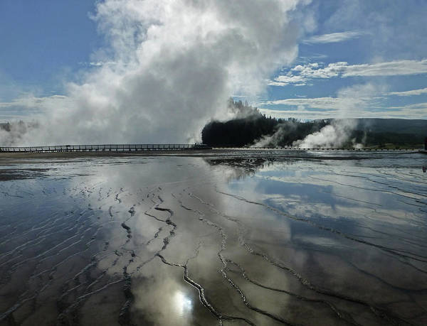 Photograph - D09130-dc Cloud And Steam Reflect by Ed Cooper Photography