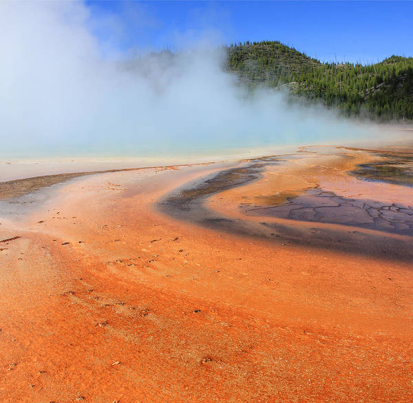 Photograph - D09132 Colorful Grand Prismatic Spring by Ed Cooper Photography