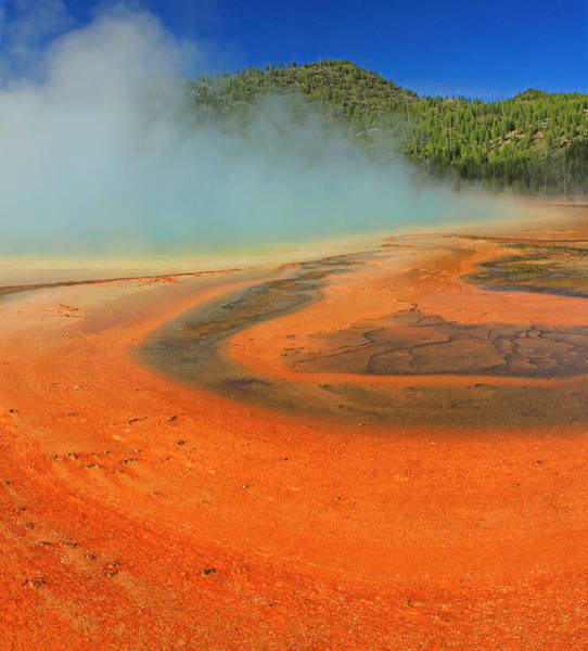 Photograph - D09133 Extreme Colors Grand Prismatic Basin by Ed Cooper Photography