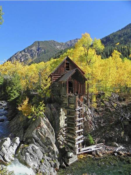 Photograph - D10426 Crystal Mill At The Crystal River by Ed Cooper Photography