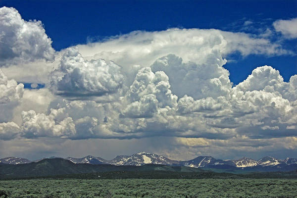 Photograph - D10945 Clouds Over The Sangre De Cristo Mountains by Ed Cooper Photography