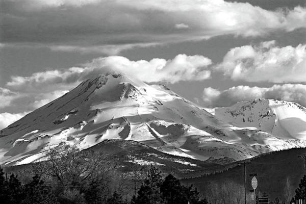 Photograph - D2m6107-bw Mt. Shasta by Ed Cooper Photography