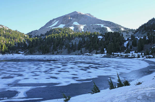Photograph - D2n6199 Ice Covered Lake Helen by Ed Cooper Photography