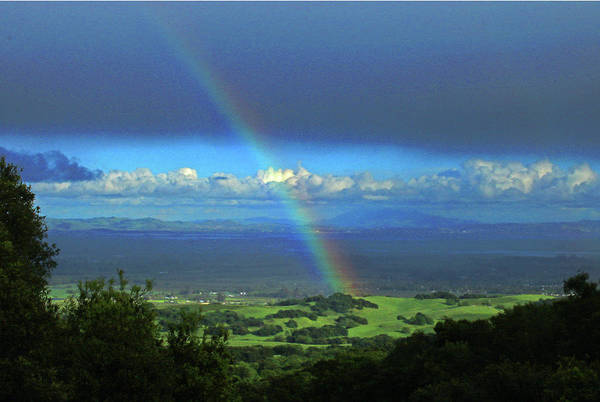 Photograph - D3b6305 Rainbow Over Sonoma Valley Ca by Ed Cooper Photography