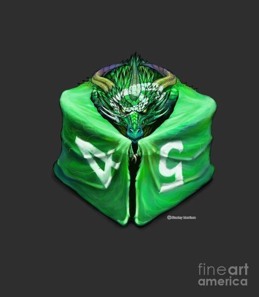 Digital Art - D6 Dragon Dice by Stanley Morrison
