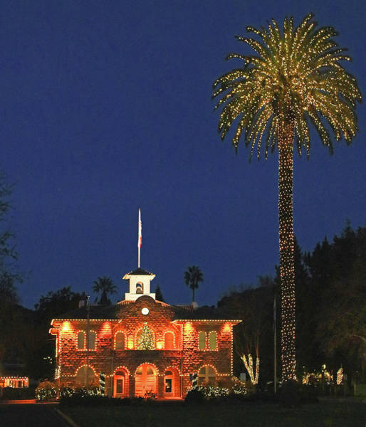 Photograph - D6b6342 Sonoma City Hall Christmas 2016 by Ed Cooper Photography