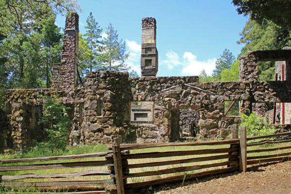 Photograph - D7b6378 Jack London Wolf House Ruins by Ed Cooper Photography