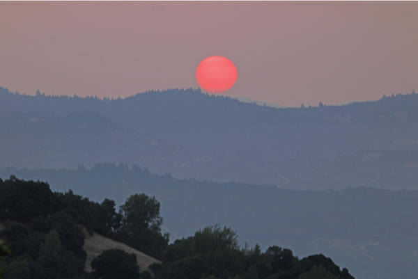 Photograph - D7b6391 Smoky Sunrise From Sonoma Mountain by Ed Cooper Photography