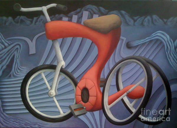 Wall Art - Painting - Da Bike by Kevin J Graham