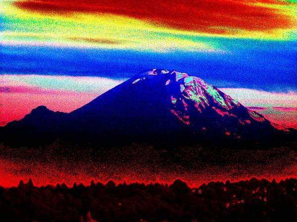 Mounted Digital Art - Da Mountain by Tim Allen