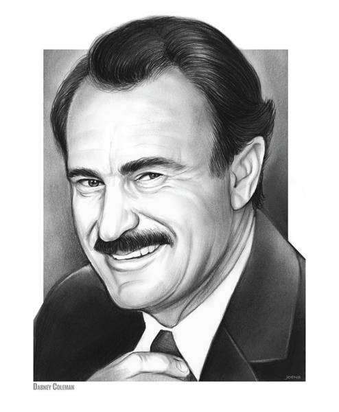 Movie Drawing - Dabney Coleman by Greg Joens