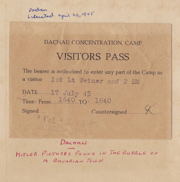 Photograph - Dachau Visitor Pass Wwll by Ericamaxine Price