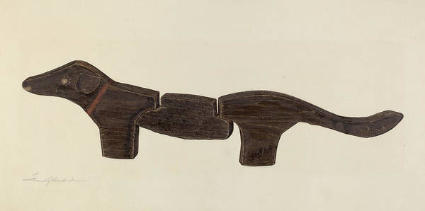 Pup Drawing - Dachshund by Frank Budash