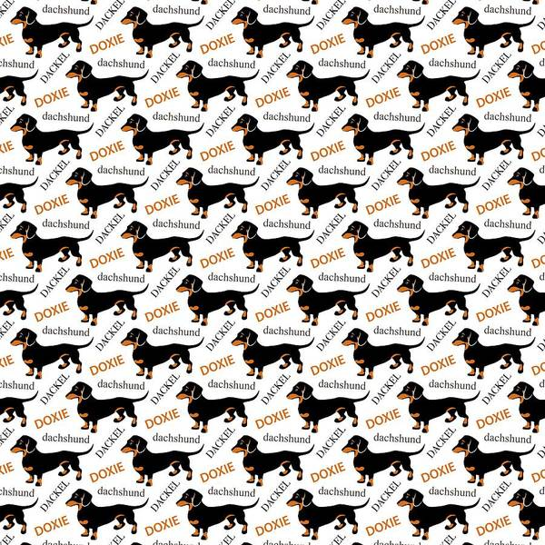 Wall Art - Digital Art - Dachshund Lover's Pattern by Antique Images