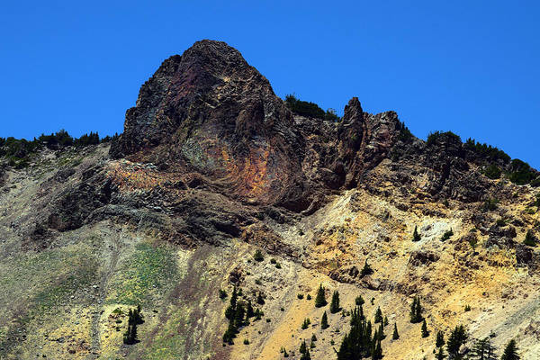 Photograph - Dacite Lava Outcrop On Mount Lassen by Frank Wilson