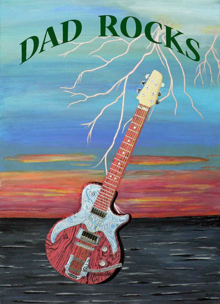 Painting - Dad Rocks by Eric Kempson