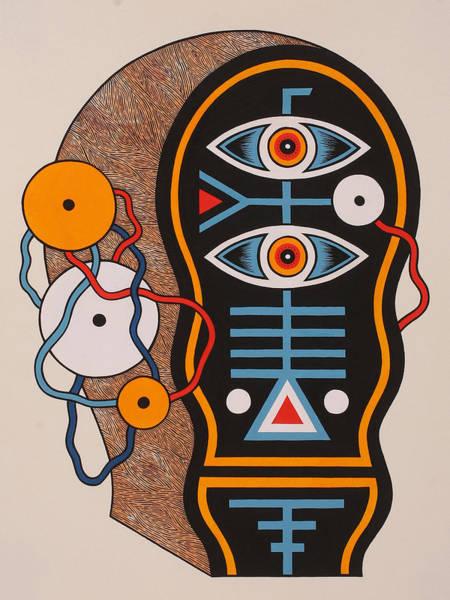 Eyeballs Painting - Dada Head One by Matt Leines
