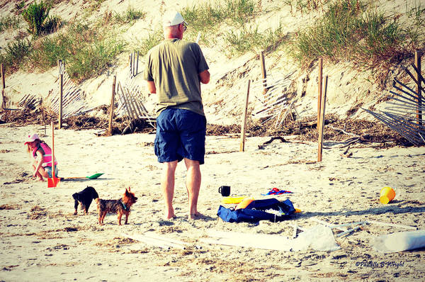 Photograph - Daddy's 4- Legged Helpers by Paulette B Wright