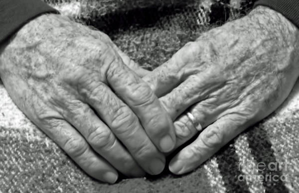 Photograph - Daddys Hands by D Hackett