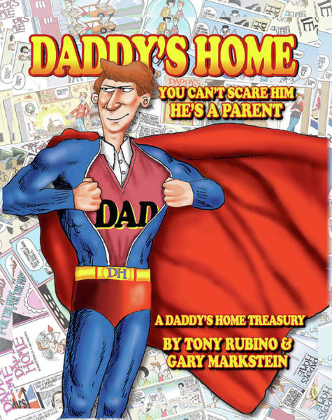 Wall Art - Painting - Daddy's Home Comics Original Book Cover Art by Tony Rubino