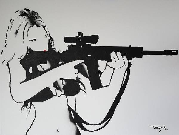 Ar 15 Painting - Daddy's Little Girl by Tony H