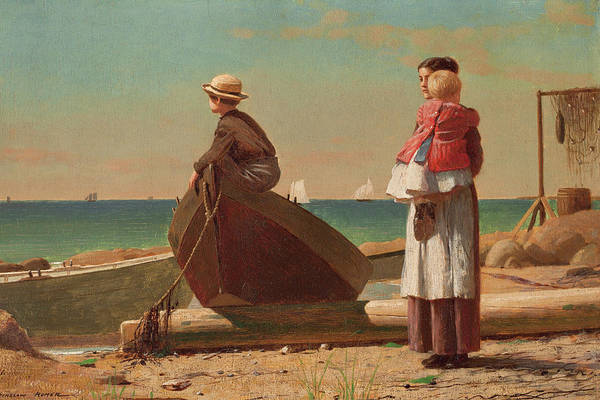 Painting - Dads Coming By Winslow Homer 1873 by Movie Poster Prints