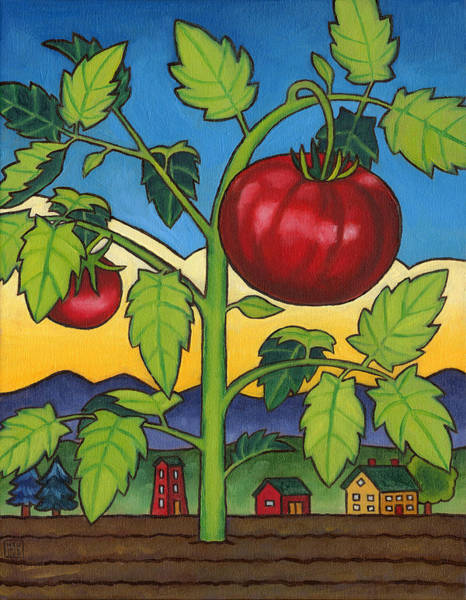 Wall Art - Painting - Dads Tomato by Stacey Neumiller