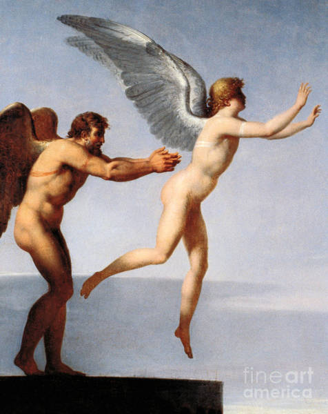 Father Sky Wall Art - Painting - Daedalus And Icarus, 1799 by Charles Paul Landon