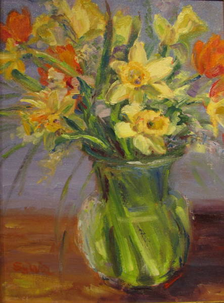 Wall Art - Painting - Daffodil Bouquet by Sylvia Carlton