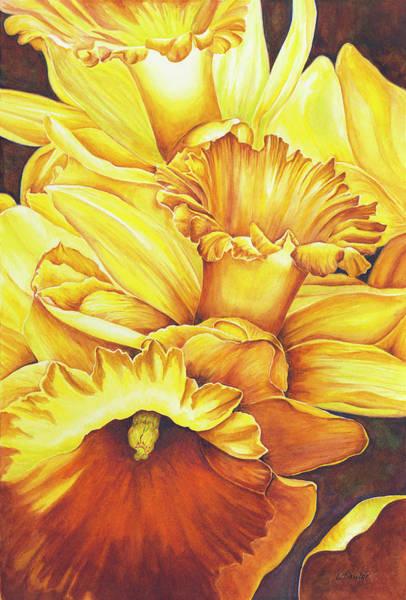 Painting - Daffodil Drama by Lori Taylor