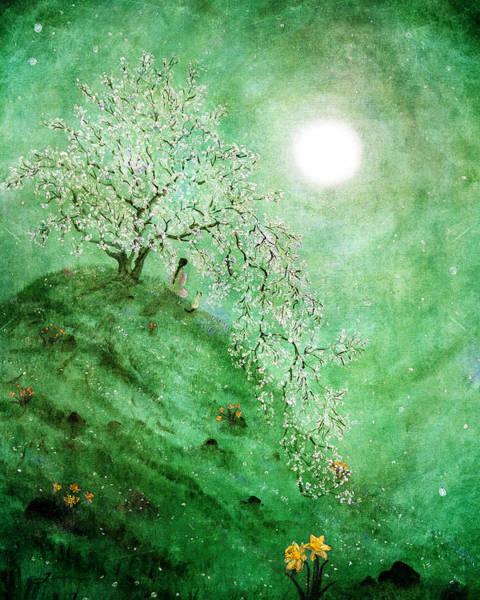 Zen Digital Art - Daffodil Dream Meditation by Laura Iverson