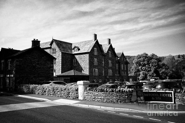 Wall Art - Photograph - Daffodil Hotel And Spa By The Lake Near Grasmere Lake District Cumbria England Uk by Joe Fox
